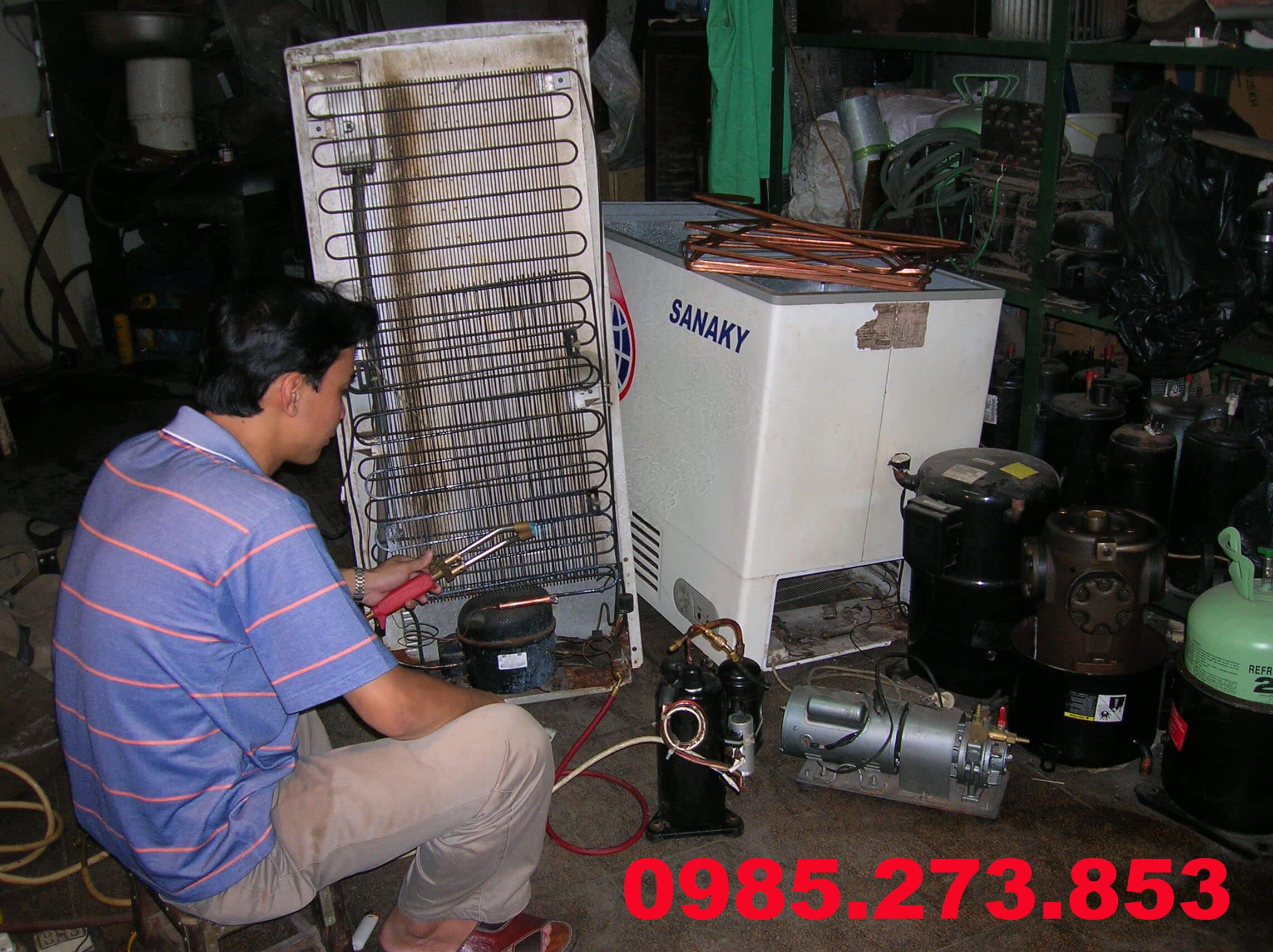 Bơm gas tủ lạnh tại Hà Nội