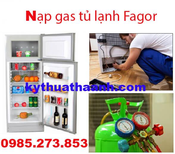 Nạp gas tủ lạnh Fagor