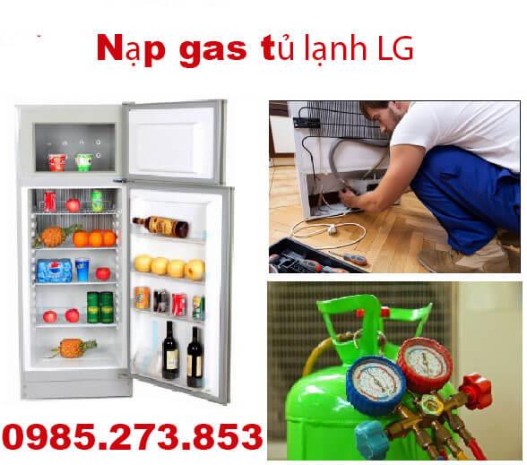 Nạp gas tủ lạnh LG