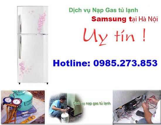 Nạp gas tủ lạnh Samsung
