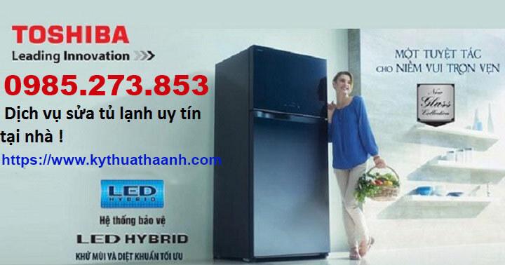 Nạp gas tủ lạnh Toshiba
